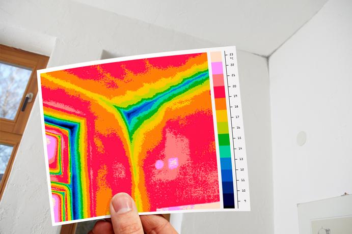 Graphic Design Muur : Thermografisch onderzoek huis kantoor besparing energiekosten lekkage